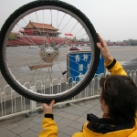 Zippy's wheel sees sites of Beijing.
