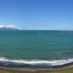 Panoram of a bay in northern Iceland