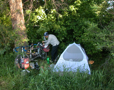 Bush camp.