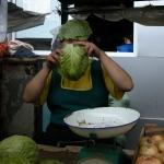 Almaty market clown.