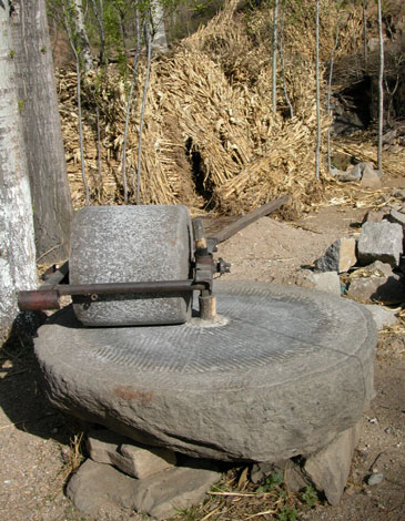 Grinding stone.