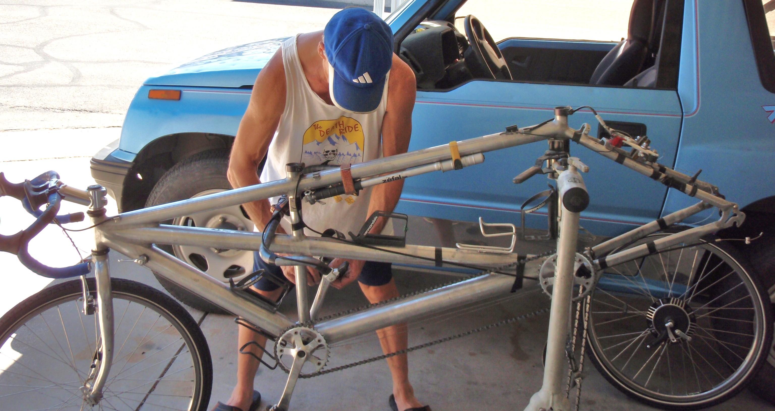Bob rebuilding Zippy