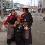 Tibetan women and child