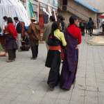 Two Tibetan women taking a walk