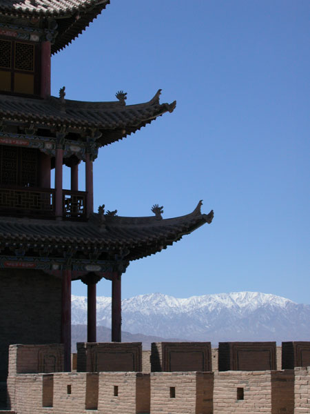 Jiayuguan, at end of Great Wall.