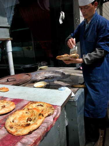 Fresh baked street food.