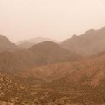 Arid mountains.