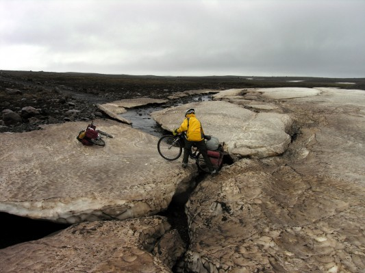 Ice Crossing in the center of Iceland, Late May