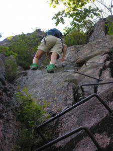 """Steps"" on the Precipice Trail in Acadia National Park"
