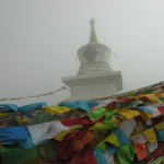 Stupa at first pass into Tibetan lands