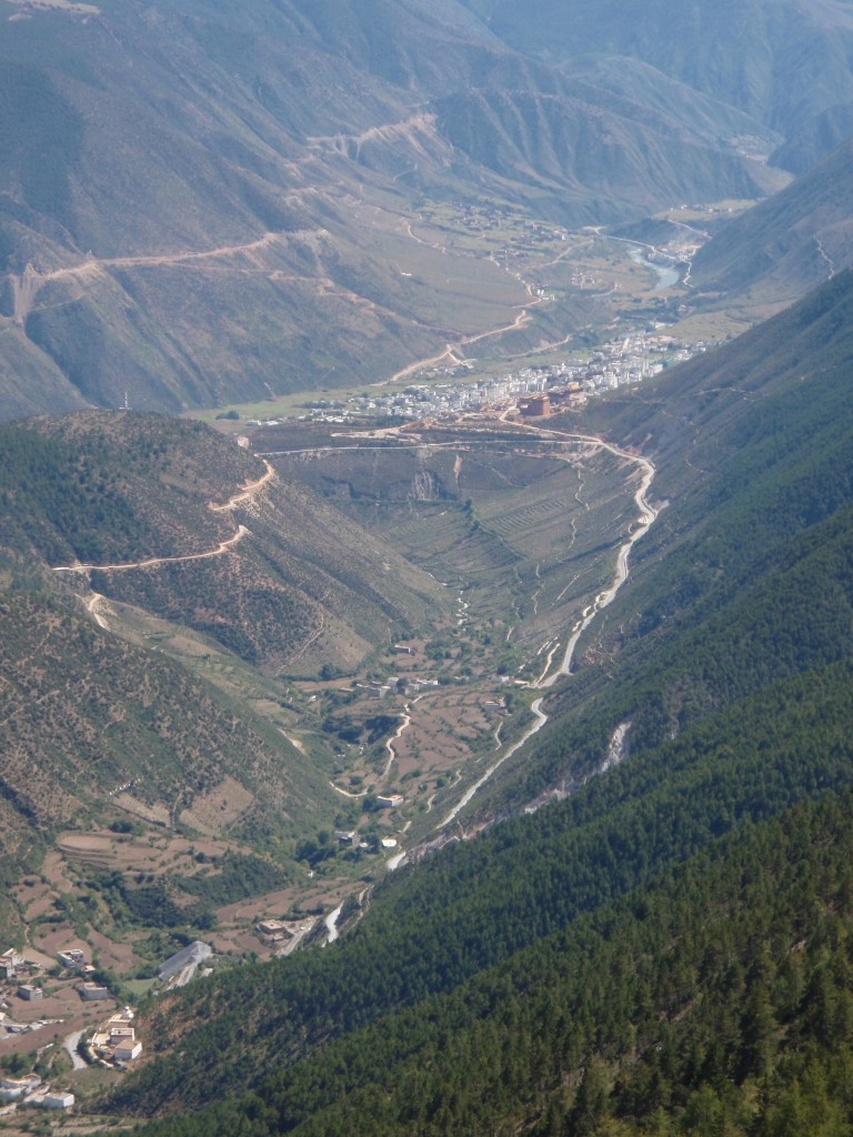 Looking back down a Chinese Valley