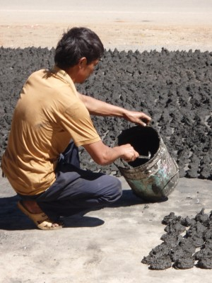 Making Charcoal By Hand