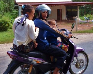 Family Transportation; Don't miss the tiny foot.