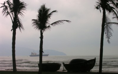 China Beach Vietnam on a Stormy Day