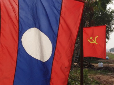 National and  Party Flags of Laos