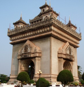Symbol of French Colonialism in Laos, Vientiane
