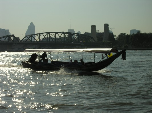Longtail Boat on Chao Phraya River