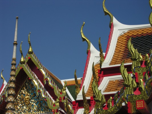 Beautiful Wat architecture in Bangkok