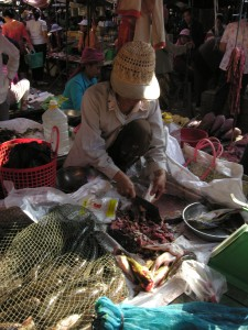 Market Vendor in Cambodia