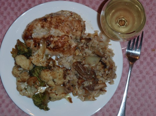Mediterrainian Pilaf, Chicken, Vegeatable Dinner