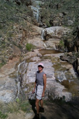 Claire at Seven Falls in Tucson
