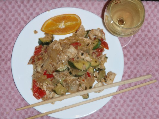 Oriental Stir Fry from Italian Leftovers