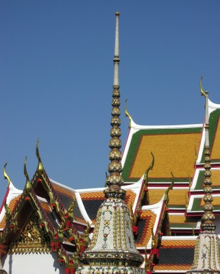 temple and stupa in Bangkok