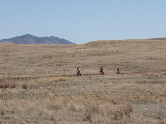 Bicyclists in the San Rafael Valley of Arizona