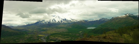 Mount St. Helens panorama, photo by Bob Rogers
