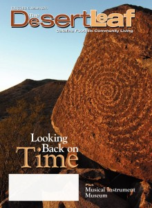 Looking Back On Time an article by Claire Rogers in Desert Leaf