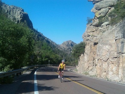 You Ride A Big Southwest Mountain in Summer