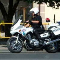 Motorcycle police officer