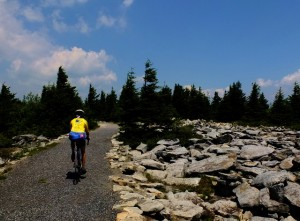 Bicycling to Spruce Knob, West Virginia