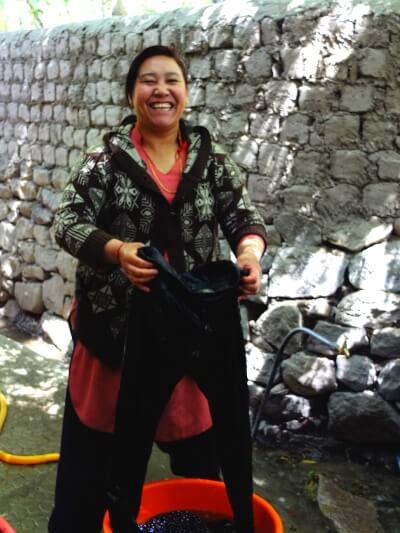 Smiling Tibetan Woman