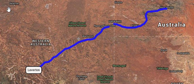 Great Central Road 1 Alice to Laverton