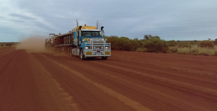 Road Train . for dogs and thirty ton... Pigram Brothers