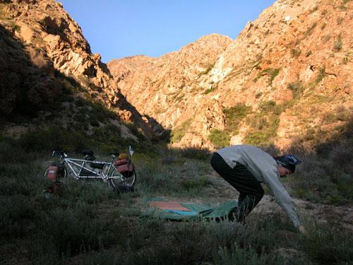 First Bush camp.