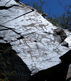 Rock art on the steppes.