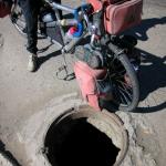 Stolen manhole.