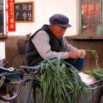 Farmer at market.