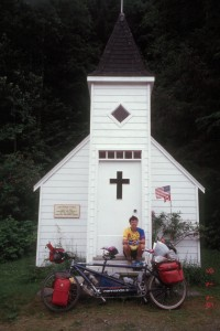 A tiny church on the Yellowhead Highway in British Columbia