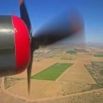 A B-24 flying over Arizona