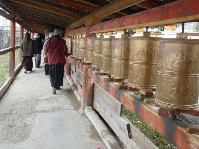 Turning Prayer Wheels