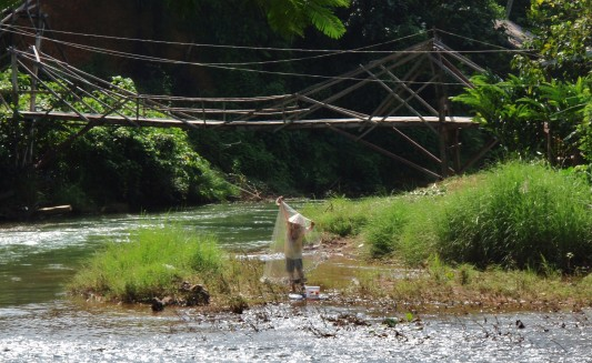 Net Fisherman in Laos