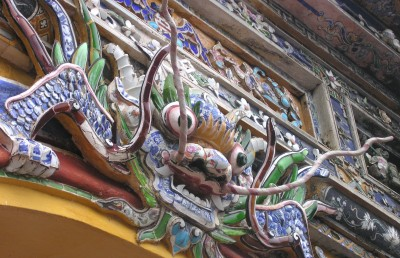Figure over the door of the Imperial Inclosure in Hue, Vietnam