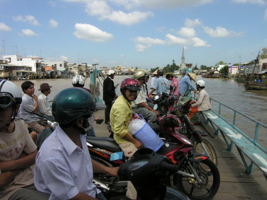 Ferry Crossing in the Mekong Delta