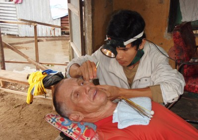 Ear wax removal at the barbers