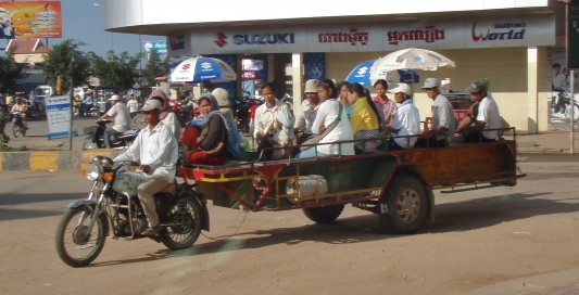 Cambodian bus; the ultimate in appropriate technology.