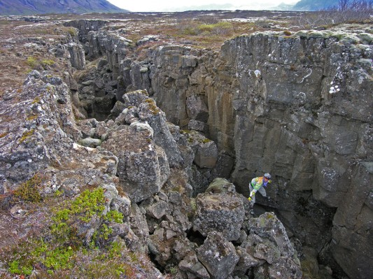 Mid Atlantic fissure in Iceland