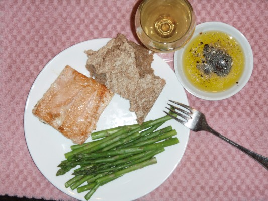 Simple dinner built around Claire's aany grained bread